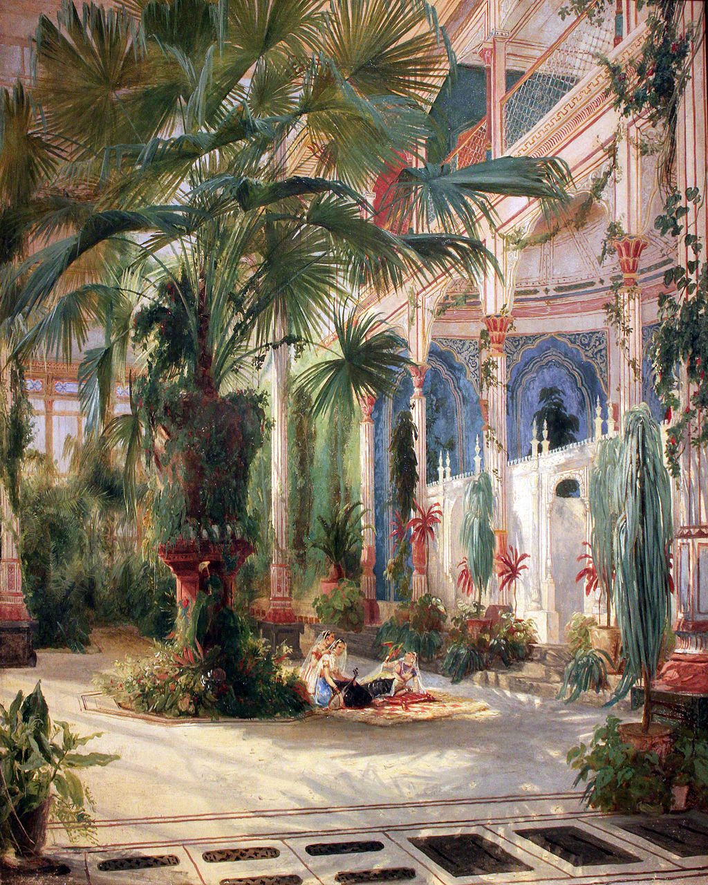Palmenhaus on the Pfaueninsel (by Carl Blechen, 1832-1834)